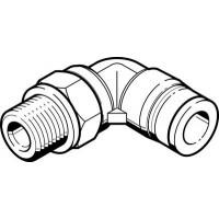 Угловой штуцер с цанговым зажимом и резьбой FESTO QSL-G1/8-8