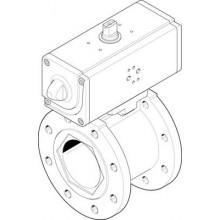 Шаровой кран с приводом FESTO VZBC-100-FF-16-22-F0710-V4V4T-PP240-R-90-C